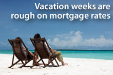 Vacation weeks are rough on mortgage rates