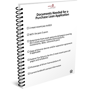 Documents needed for a Purchase Loan Application