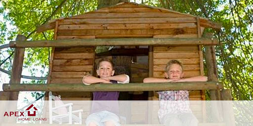 boys in a tree house