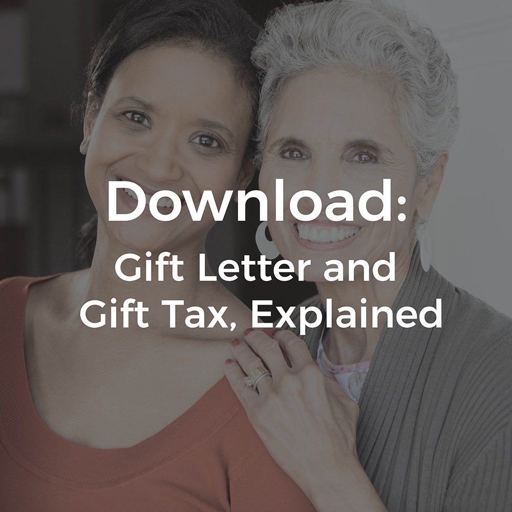 Gift Tax Explanation & Gift Letter Template