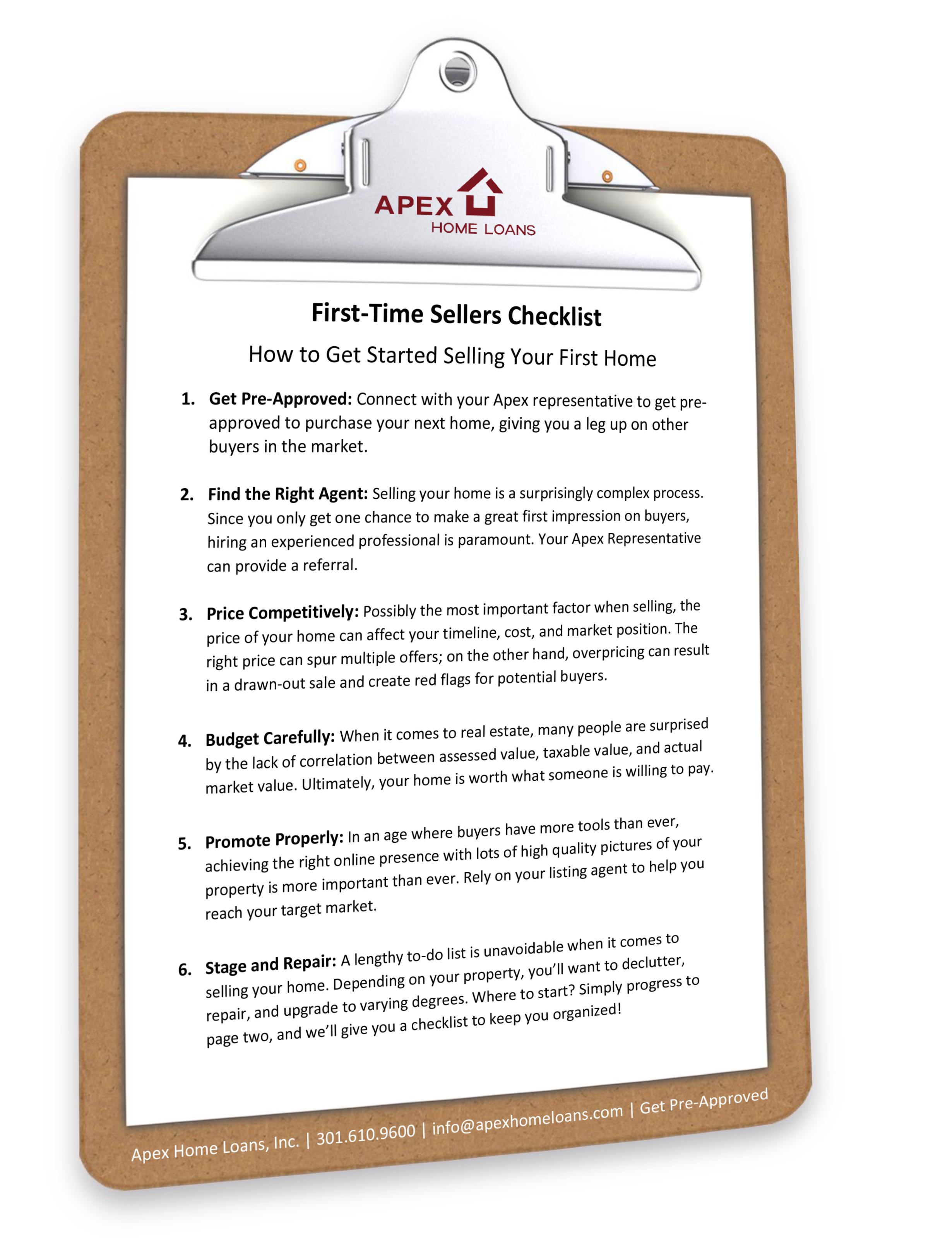 First-Time Seller Checklist