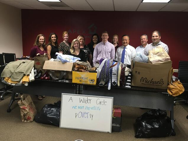 Apex Home Loans' 2016 Professional Clothing Drive for A Wider Circle
