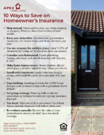 10 Ways to Save on Homeowners Insurance