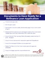 Documents Needed For a Refinance Loan Application_FINAL