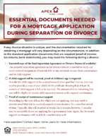 Essential Documents Needed for a Mortgage Application During Divorce_Updated