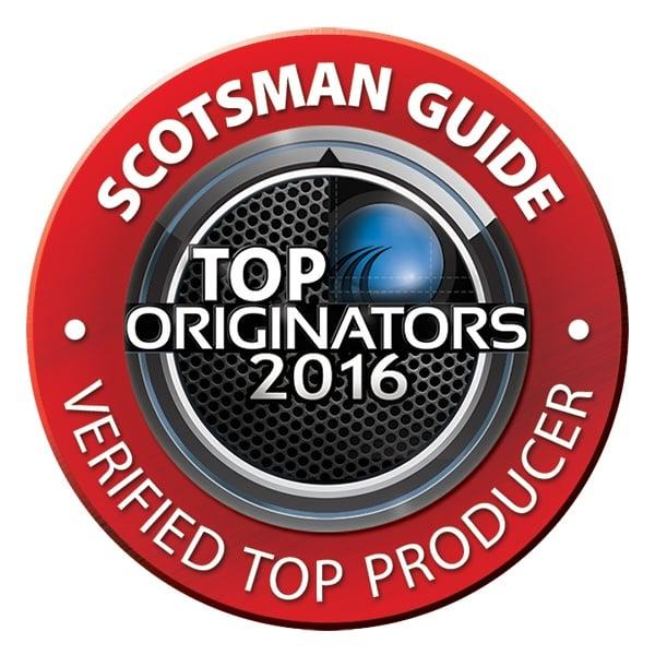 Scotsman TOP Loan Originator 2016