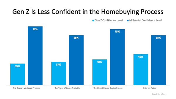 """Generation """"Z"""" Less Confident in Homebuying Process Chart"""