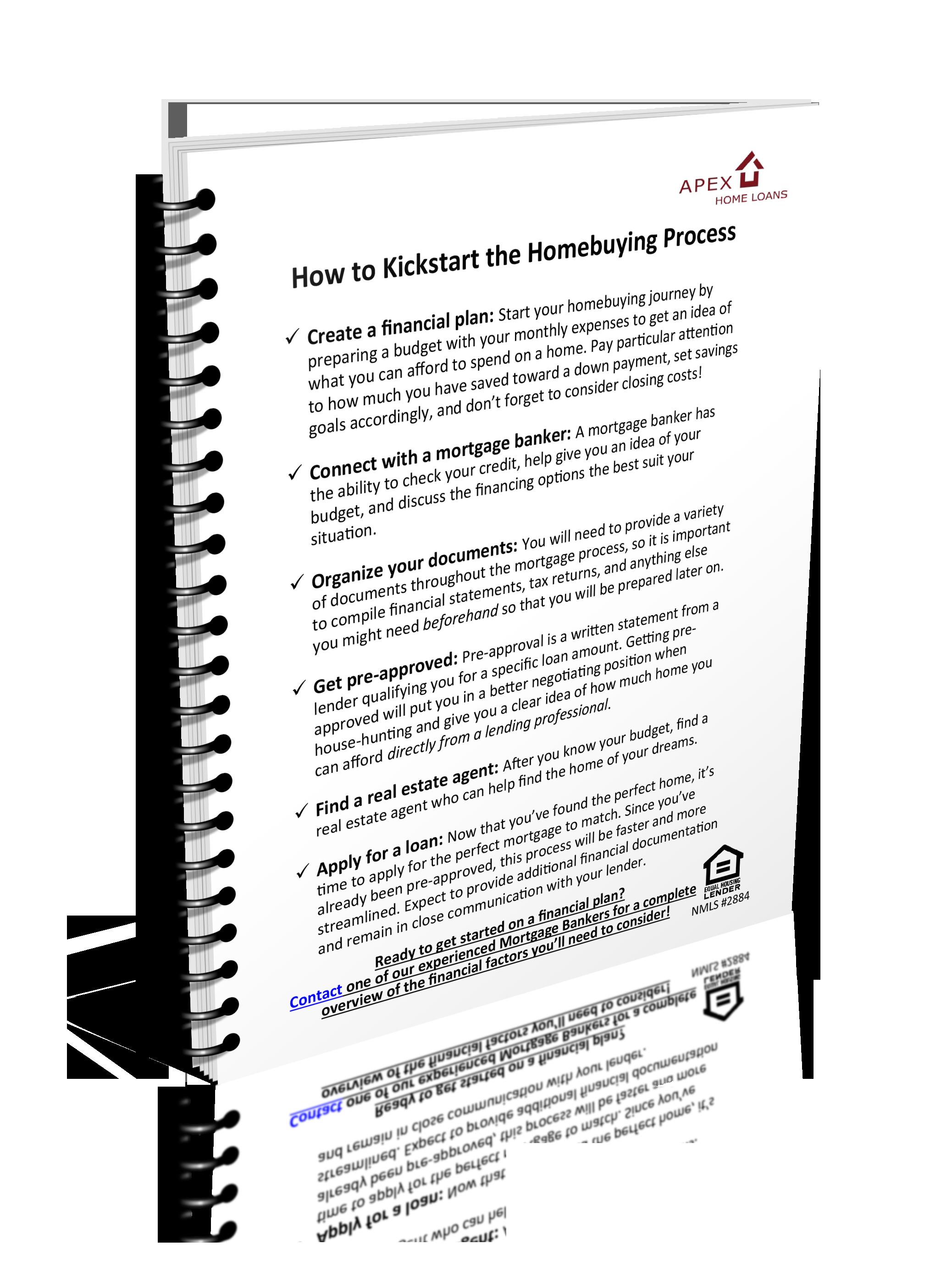 How to Kickstart the Homebuying Process