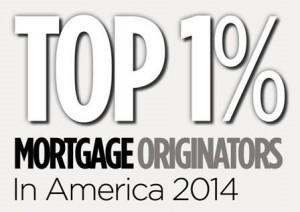 Top 1% Mortgage Originators in America 2014