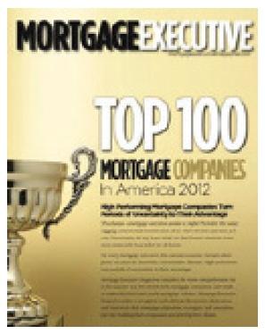 Mortgage Executive Top 100 Mortgage Company