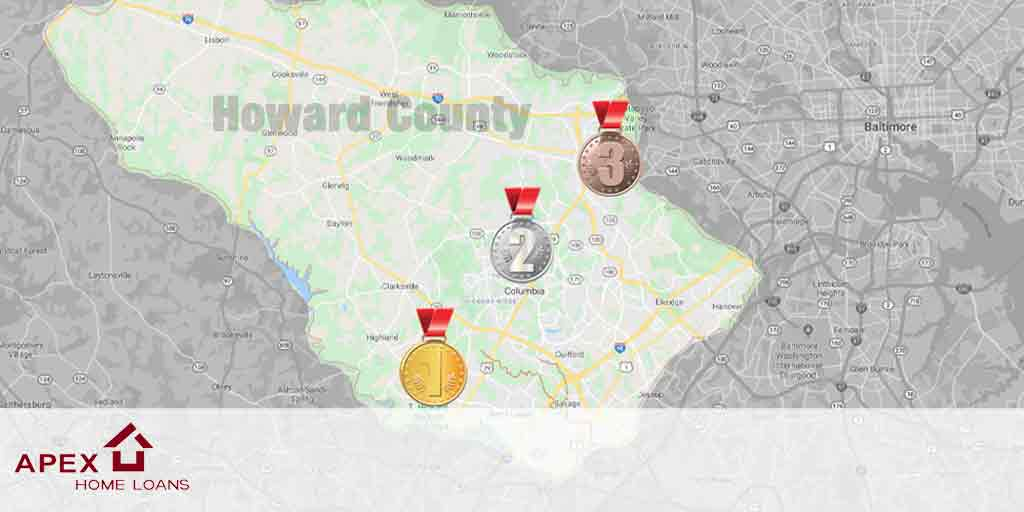best 3 cities to raise a family in howard county maryland